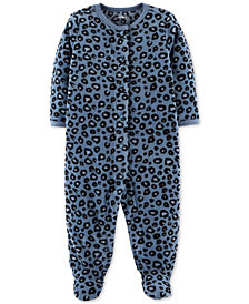 Carter's Baby Girls Cheetah-Print Footed Coverall