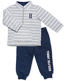 Tommy Hilfiger Baby Boys 2-Pc. Striped Pullover & Jogger Pants Set