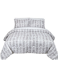 Painted Chevron Full/Queen Comforter Set