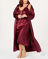 Flora by Flora Nikrooz Plus Size Stella Satin Nightgown   Robe Collection dadbf75a7