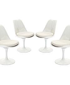Lippa Dining Side Chair Fabric Set of 4