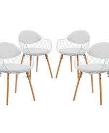 Basket Dining Set  of 4