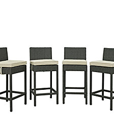 Sojourn 4 Piece Outdoor Patio Sunbrella® Pub Set