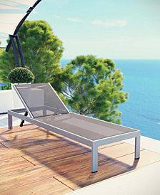 Shore Outdoor Patio Aluminum Mesh Chaise