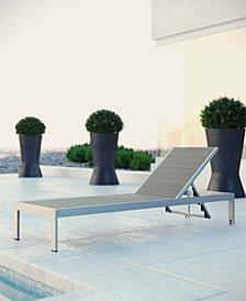 Shore Outdoor Patio Aluminum Rattan Chaise