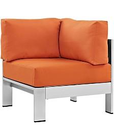 Modway Shore Outdoor Patio Aluminum Corner Sofa