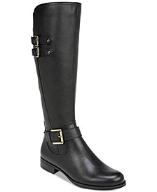 Jessie Leather Wide Calf Riding Boots