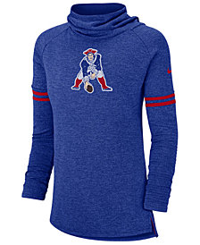 Nike Women's New England Patriots Funnel Neck Long Sleeve T-Shirt
