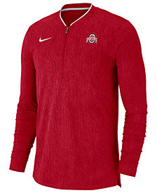 Nike Men's Ohio State Buckeyes Coaches Quarter-Zip Pullover 2018