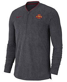 Nike Men's Iowa State Cyclones Coaches Quarter-Zip Pullover 2018