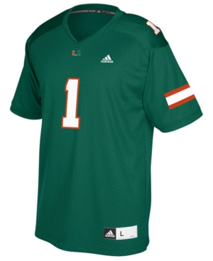 adidas Miami Hurricanes Replica Football Jersey, Big Boys (8-20)