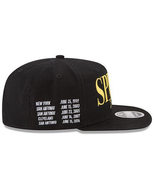 lower price with 98749 5b7bf ... New Era San Antonio Spurs 90s Throwback Roadie 9FIFTY Snapback Cap ...