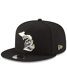 New Era Detroit Lions Gold Stated 9FIFTY Snapback Cap