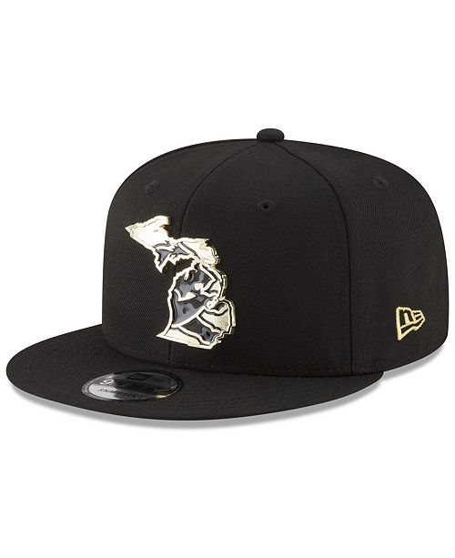 New Era Detroit Lions Gold Stated 9FIFTY Snapback Cap - Sports Fan ... 8c6b04f04