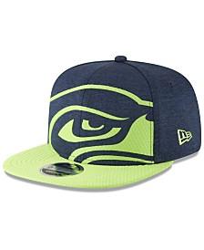 New Era Seattle Seahawks Oversized Laser Cut 9FIFTY Snapback Cap