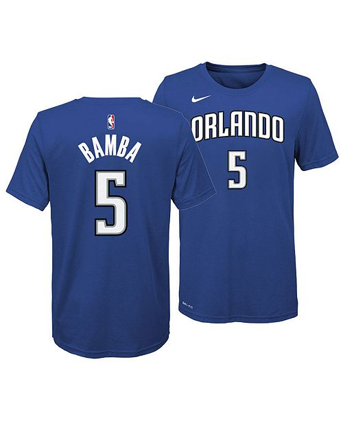 competitive price fdfad 59e9b Mohamed Bamba Orlando Magic Icon Name and Number T-Shirt, Big Boys (8-20)