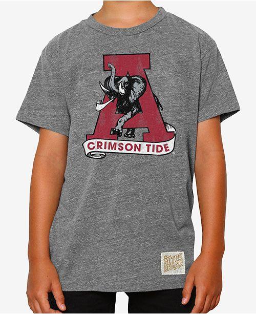 Retro Brand Alabama Crimson Tide Tri-Blend T-Shirt, Big Boys (8-20)