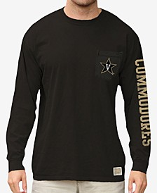 Men's Vanderbilt Commodores Heavy Weight Long Sleeve Pocket T-Shirt