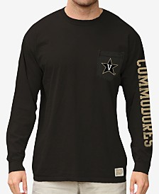 Retro Brand Men's Vanderbilt Commodores Heavy Weight Long Sleeve Pocket T-Shirt