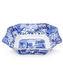 """Blue Italian"" Square Serving Bowl, 9.5"""