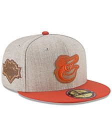 Baltimore Orioles Leather Ultimate Patch Collection 59FIFTY FITTED Cap
