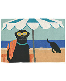 "Liora Manne Front Porch Indoor/Outdoor Dig in the Beach Ocean 2'6"" x 4' Area Rugs"