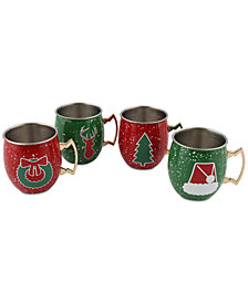 Thirstystone Red & Green Speckled Mugs, Set of 4
