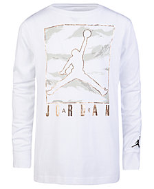 Jordan Big Boys Camo-Print Jumpman Graphic Cotton T-Shirt