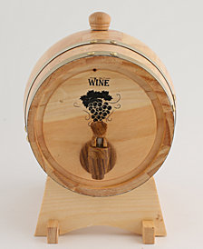 Thirstystone Oak Barrel 3-Quart Wine Dispenser with Stand