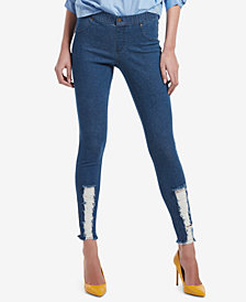 HUE® Ripped Denim Leggings