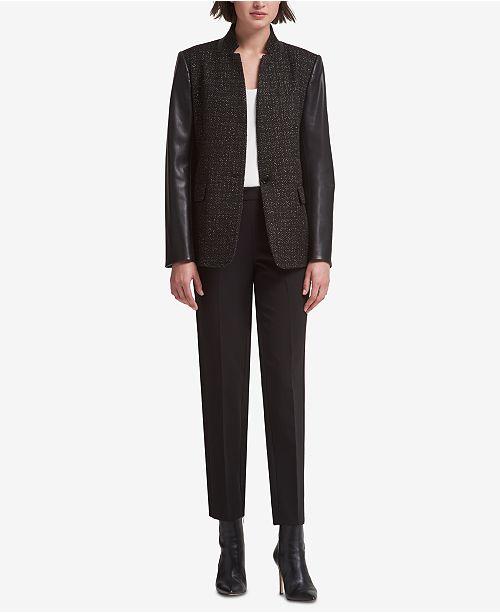 Mixed-Media Jacket, Created for Macy's