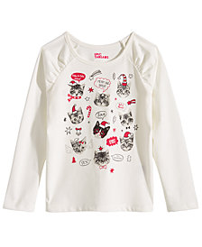 Epic Threads Toddler Girls Cat-Print T-Shirt, Created for Macy's