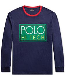Polo Ralph Lauren Men's Hi Tech Logo Graphic Long-Sleeve T-Shirt