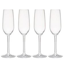 Hudson 7oz Tritan Acrylic Glitter 4-Pc. Champagne Flute Set