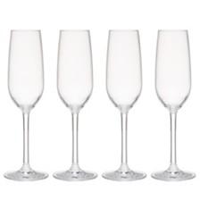 Q Squared Hudson 7oz Tritan Acrylic Glitter 4-Pc. Champagne Flute Set