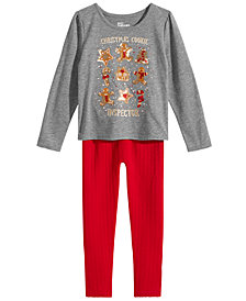 Epic Threads Toddler Girls Cooke-Print T-Shirt & Sweater Leggings, Created for Macy's
