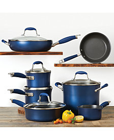 Anolon Advanced Indigo 12-Pc. Hard-Anodized Non-Stick Cookware Set
