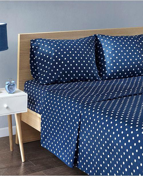JLA Home Mi Zone Polka Dot 4-PC Full Cotton Sheet Set
