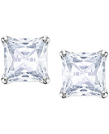Swarovski Crystal Square Stud Earrings