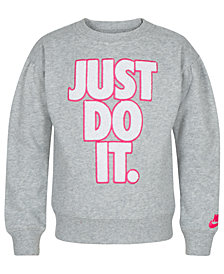 Nike Toddler Girls Just Do It-Print Fleece Sweatshirt
