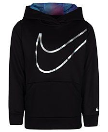 Nike Little Girls Therma-FIT Logo-Print Hoodie
