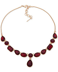"Nine West Stone Lariat Necklace, 16"" + 2"" extender"