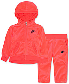 Nike Little Girls 2-Pc. Velour Track Suit Set