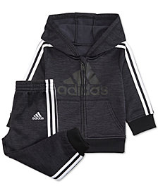 adidas Baby Boys 2-Pc. Fleece Hoodie & Jogger Pants Set