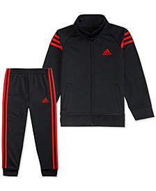 adidas Toddler Boys 2-Pc. Athletic Jacket & Jogger Pants Set