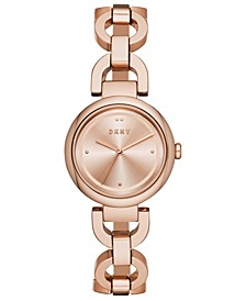 Women's Eastside Rose Gold-Tone Stainless Steel Chain Bracelet Watch 30mm, Created for Macy's