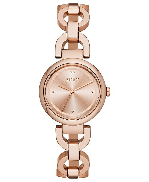 DKNY Women's Eastside Rose Gold-Tone Stainless Steel Chain Bracelet Watch 30mm, Created for Macy's