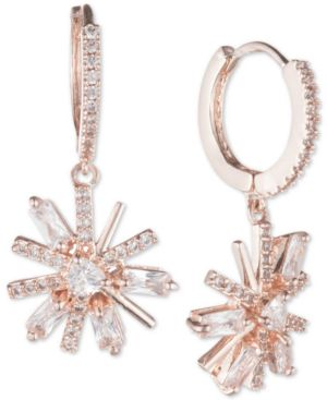 JENNY PACKHAM Mini Pave Crystal Drop Earrings in Pink