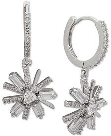 Jenny Packham Crystal Flower Drop Earrings