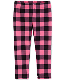 Carter's Baby Girls Plaid-Print Leggings
